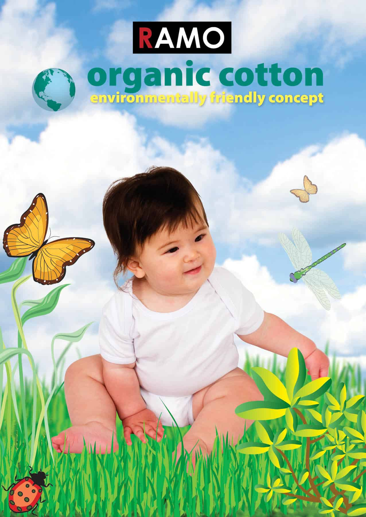Ramo - Organic Baby Romper - Print on Demand Custom T ...